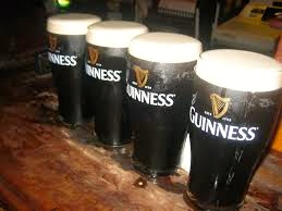 An Image Of Four Pints Of Guinness at The Grapes Trippet Lane Sheffield
