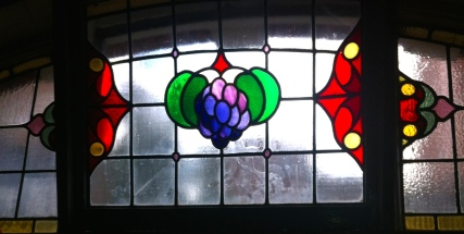 a photo of a Stained Glass Window at The Grapes Trippet lane Sheffield