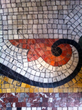 An Image of The Original Mosaic Floor at The Grapes Trippet Lane Sheffield