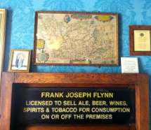 An Image of a sign saying Frank Flynn in The Blue Room at The Grapes Trippet Lane Sheffield