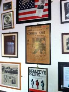 A Wall Of Kennedy Memorabilia At The Grapes Trippet Lane Sheffield