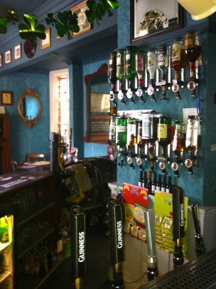 An Image of Guinness taps at the bar of The Grapes Trippet Lane Sheffield