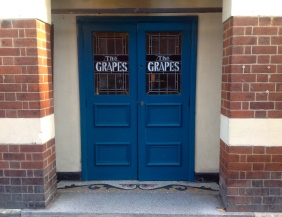 An Image of The Front Doors. Cead mile failte At The Grapes Trippet Lane Sheffield