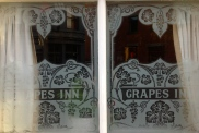 An Image Of The Windows At The Grapes Trippet Lane Sheffield