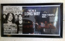 Image of an Arctic Monkeys article at The Grapes Trippet Lane Sheffield